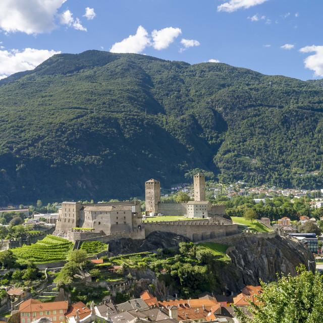 """Castelgrande Bellinzona"" stock image"