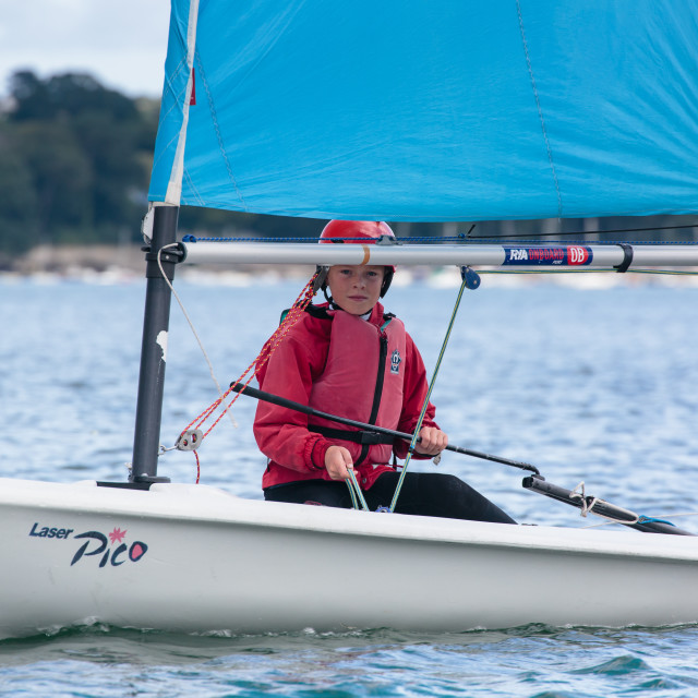 """Dinghy sailing 2"" stock image"