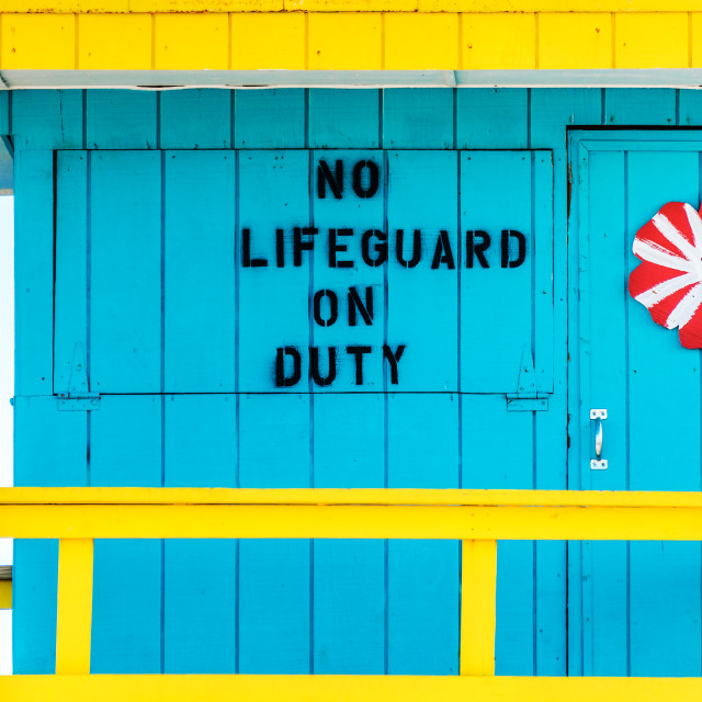 """lifeguard tower :100:"" stock image"