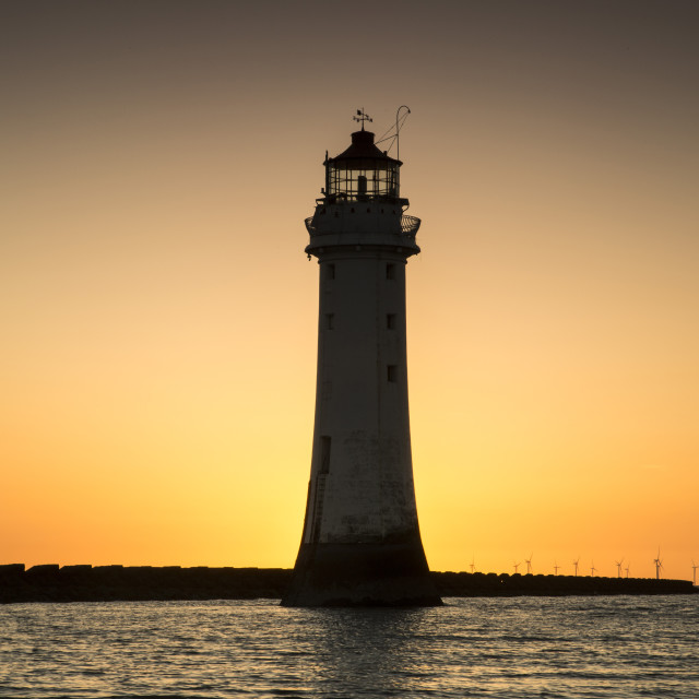 """New Brighton Lighthouse"" stock image"