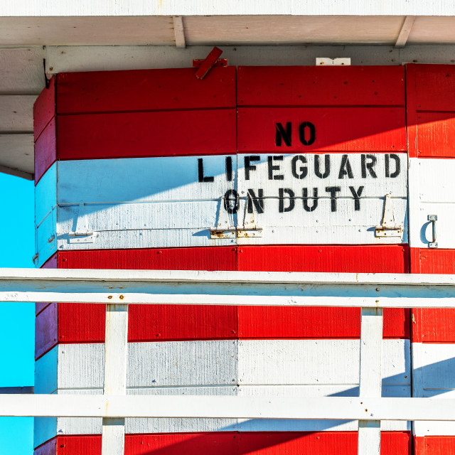 """lifeguard tower :Jetty:"" stock image"