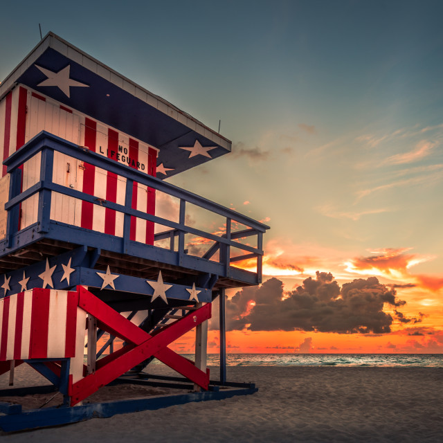 """American sunrise"" stock image"