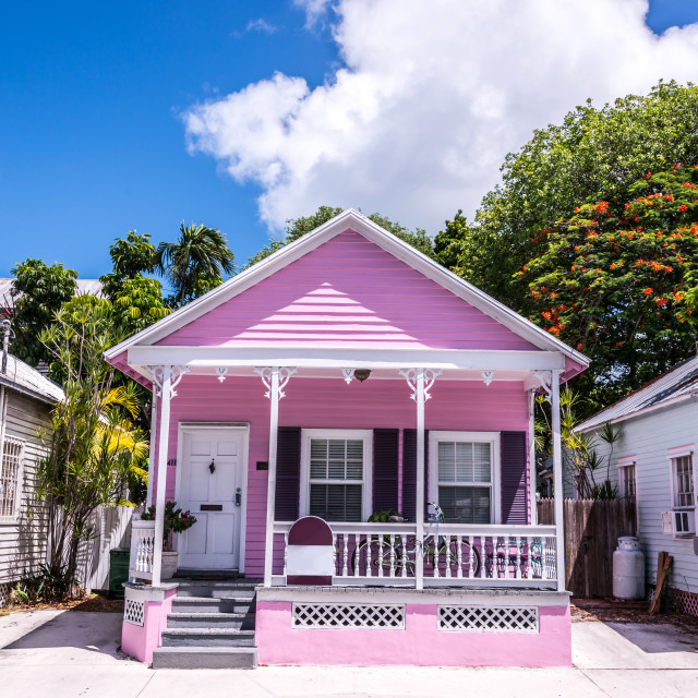"""Pink house"" stock image"