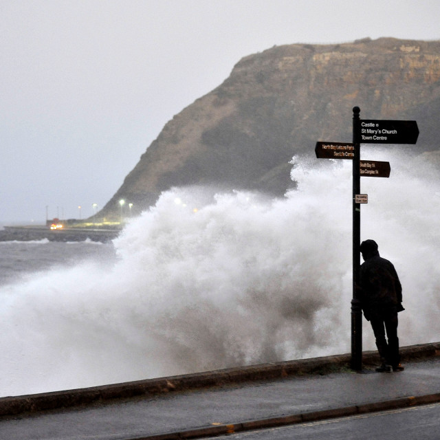 """STORM HITS SCARBOROUGH"" stock image"
