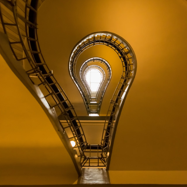 """""""The stairs to the Black Madonna House"""" stock image"""