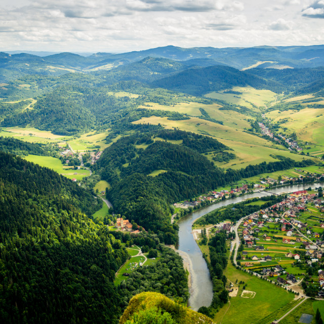"""""""Green Hills Of Poland"""" stock image"""