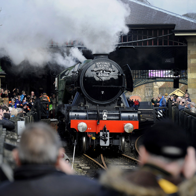 """Flying Scotsman in Pickering"" stock image"