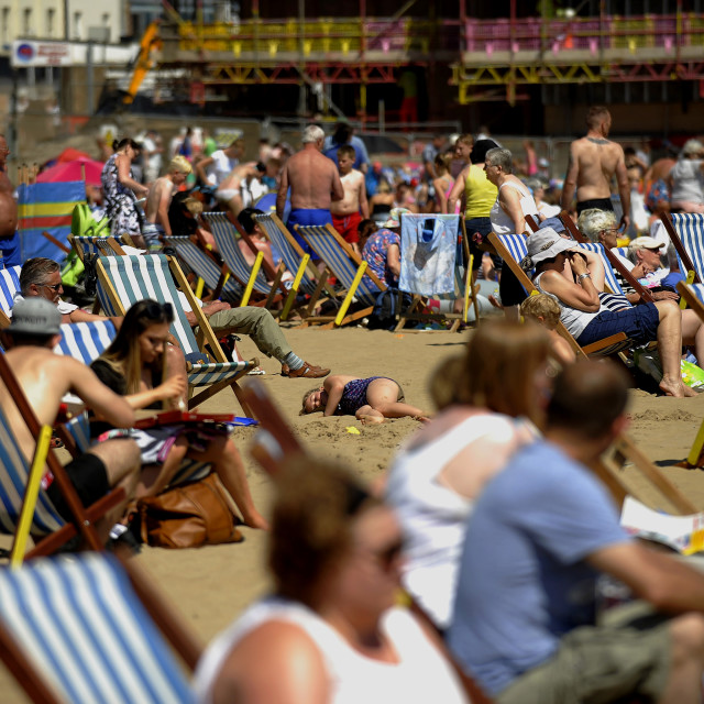 """""""DECK CHAIRS"""" stock image"""