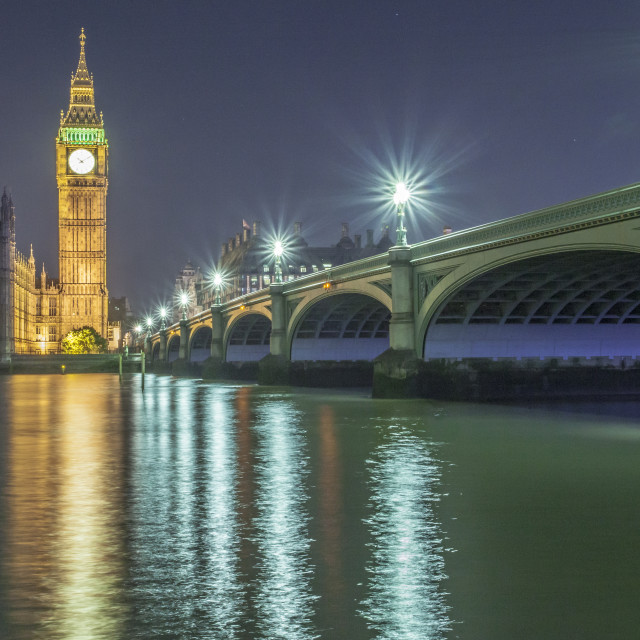 """Westminster Bridge and Big Ben"" stock image"