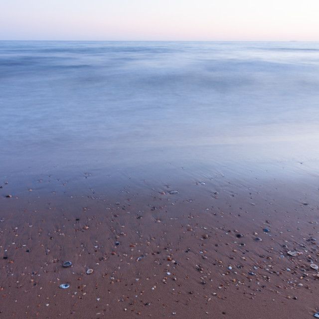 """""""Silky Ocean And The Beach Shells"""" stock image"""