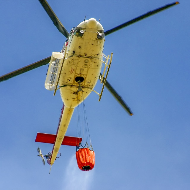 """Fire fighting helicopter"" stock image"