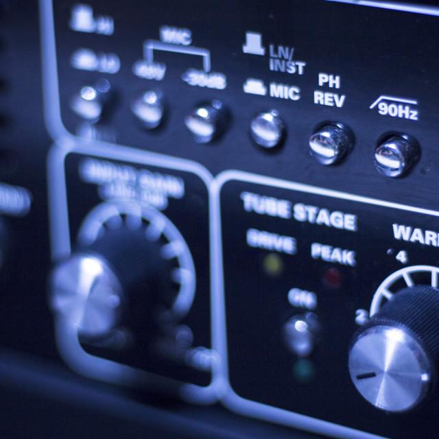 """""""Sound recording audio studio"""" stock image"""