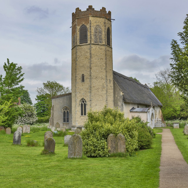 """All Saints Church Old Buckenham"" stock image"