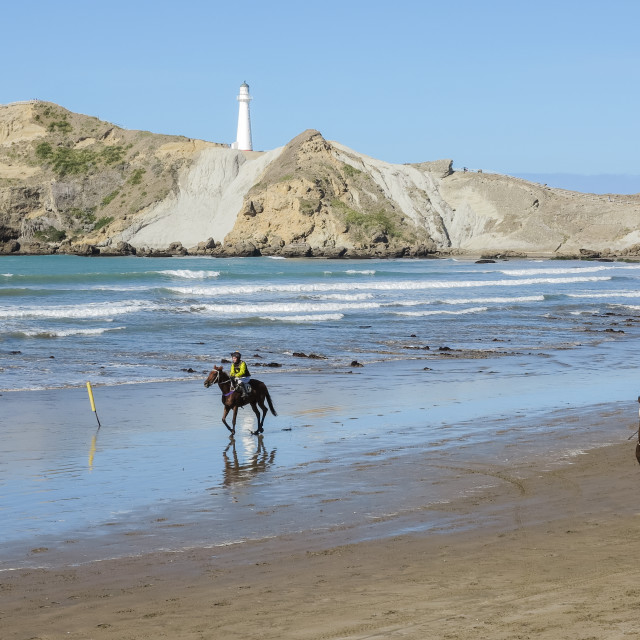 """Castlepoint beach races"" stock image"