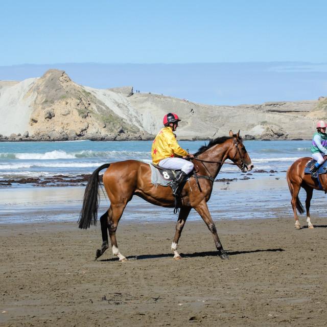 """Beach jockeys"" stock image"