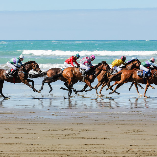 """Beach racing"" stock image"
