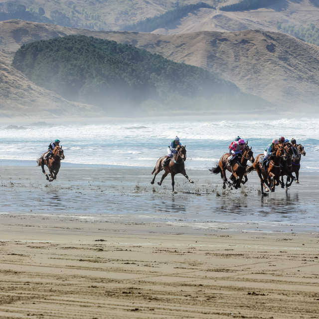 """Castlepoint races"" stock image"