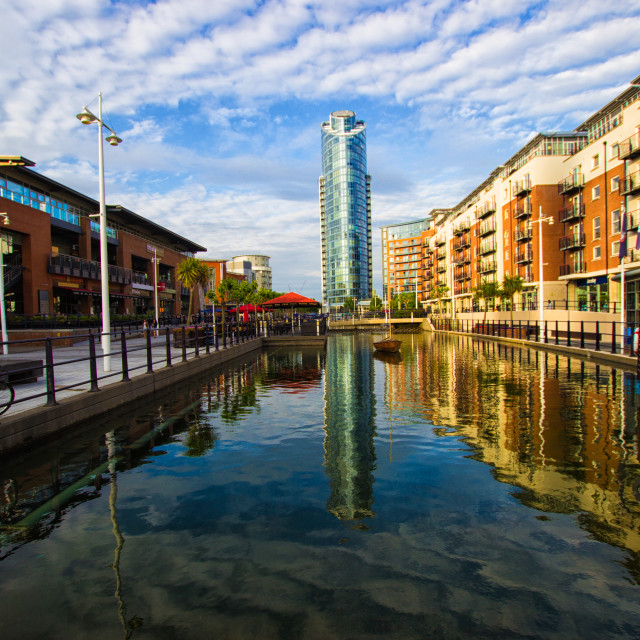 """Gunwharf Quays"" stock image"