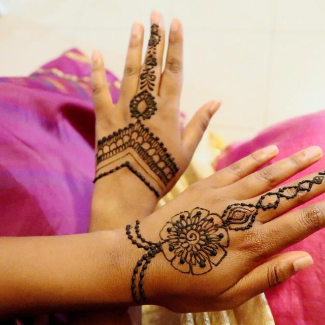 """Henna ArtWork on Hands"" stock image"