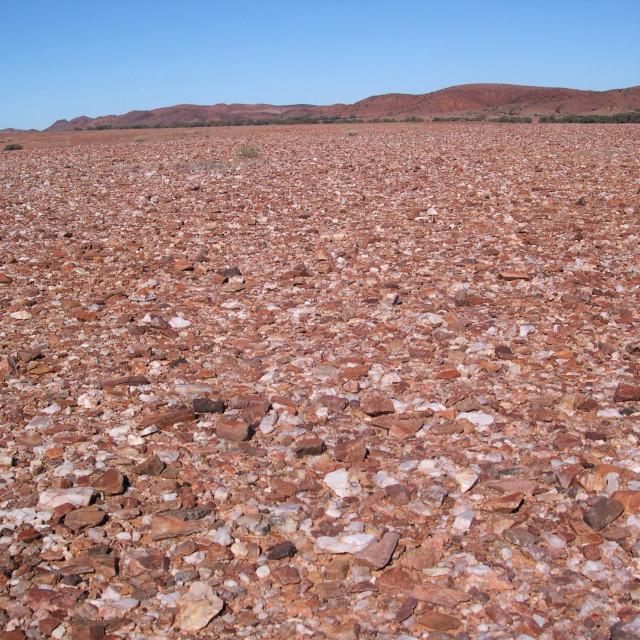 """""""Harsh Australian Desert Landscape"""" stock image"""