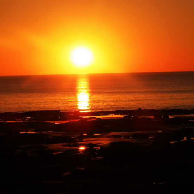 """Broome sunset"" stock image"