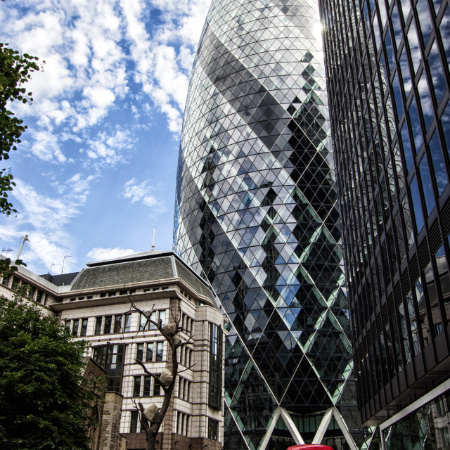 """The Gherkin"" stock image"