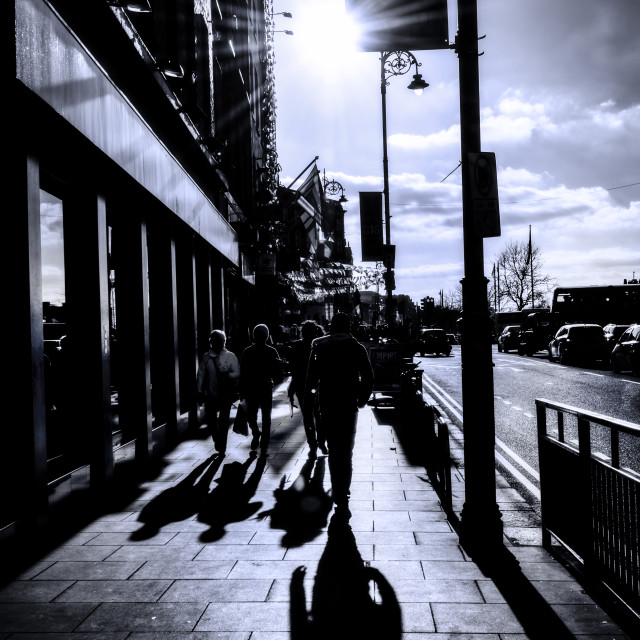 """Walking down St John Rogerson's Quay"" stock image"