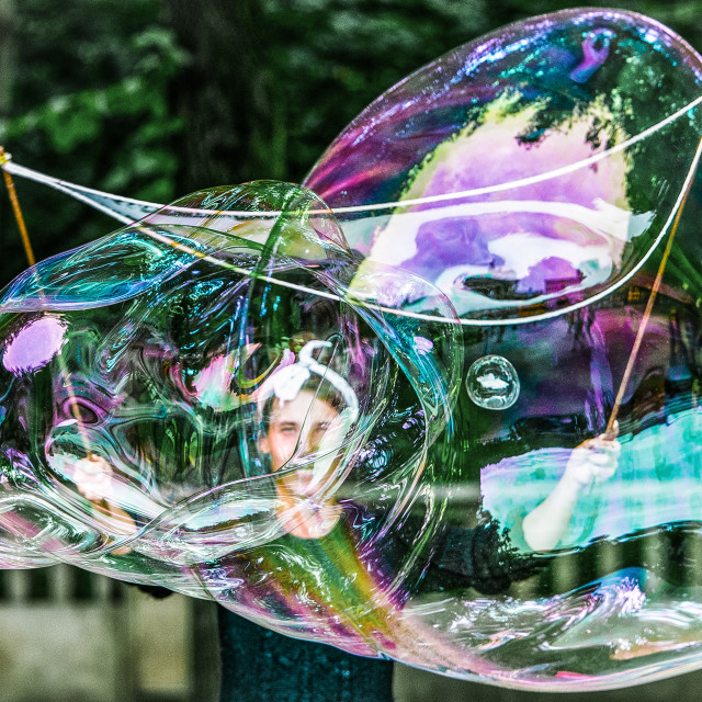 """bubble monster"" stock image"