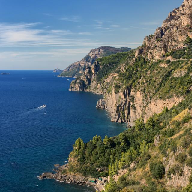 """""""The Amalfi Coast - A Glimpse"""" stock image"""