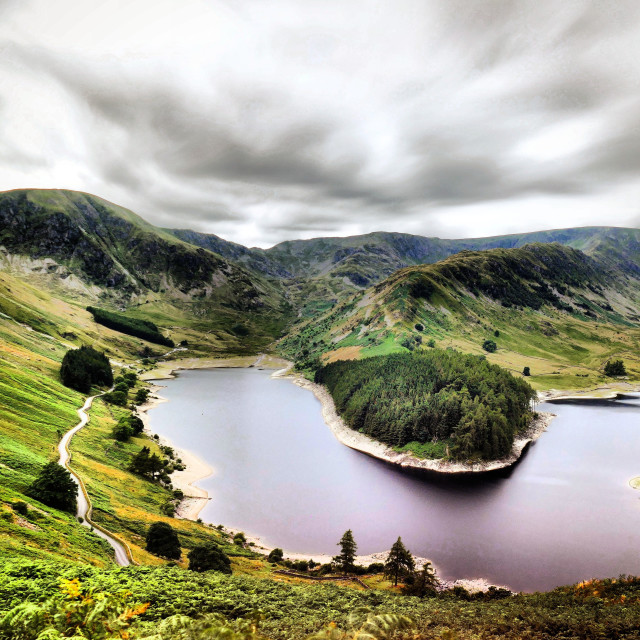 """Haweswater Reservoir, Cumbria, England"" stock image"