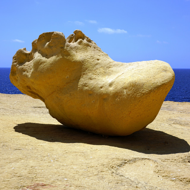 """""Hippopotamus Rock"" Xlendi, Gozo"" stock image"
