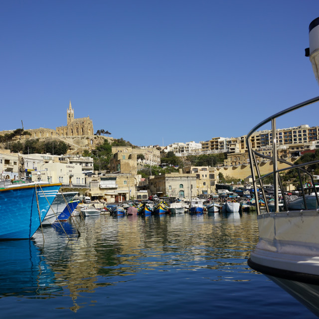 """""""Mgarr Harbour, Gozo"""" stock image"""