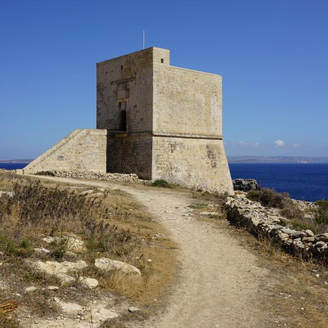 """Mgarr Xi Xini Tower, Gozo"" stock image"