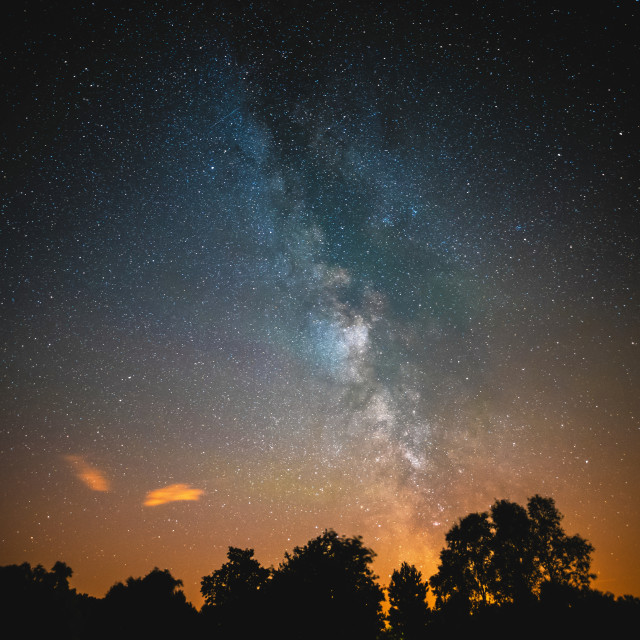 """Kelling Heath Milky Way"" stock image"