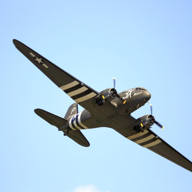 """Douglas C47 Dakota in flight"" stock image"