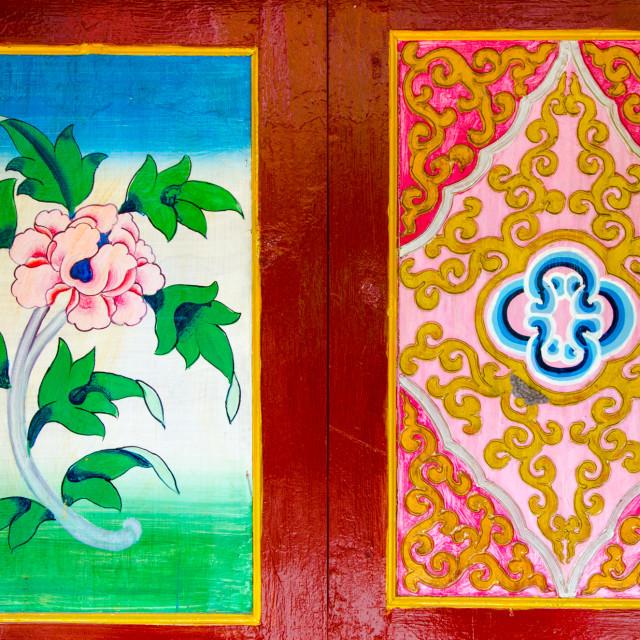 """""""Buddhist Wall Art"""" stock image"""