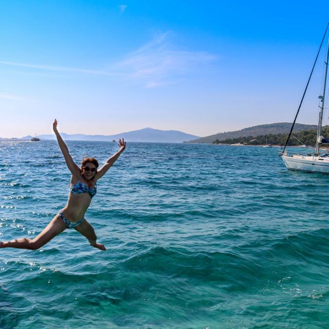 """Dalmatia Coast Diving"" stock image"