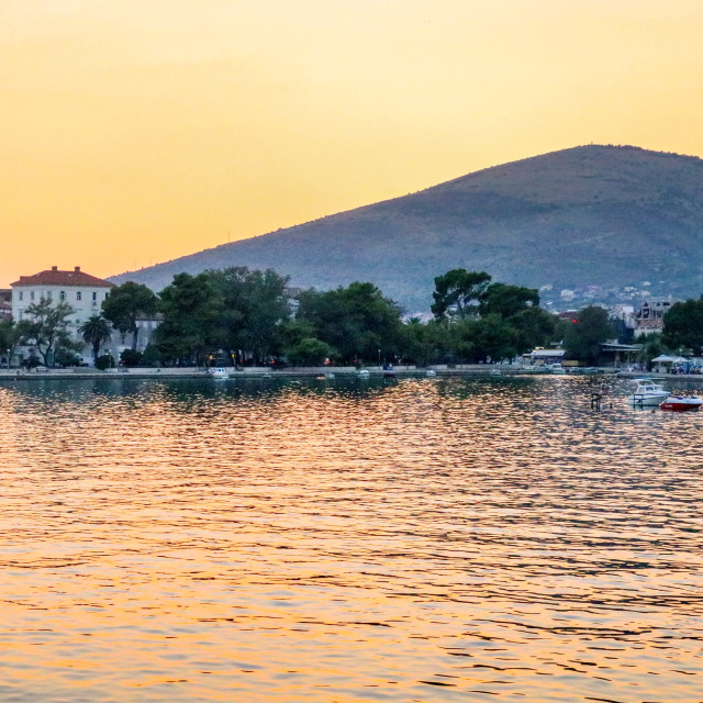 """Trogir Sunset"" stock image"
