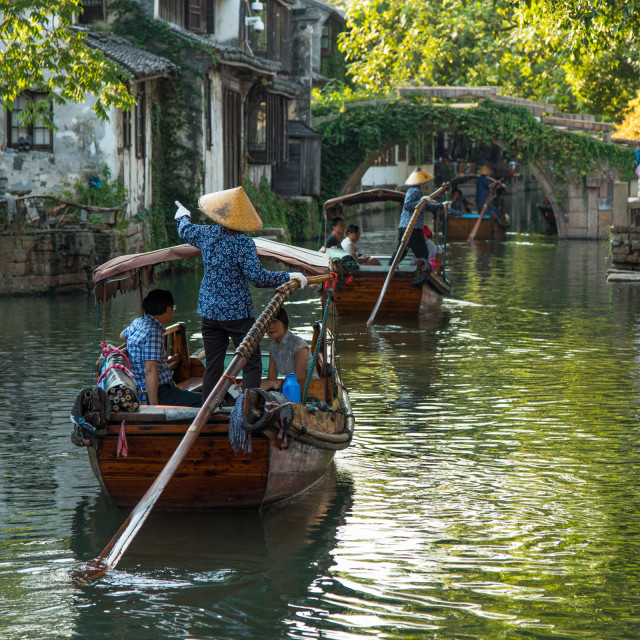 """Zhouzhuang Water Village"" stock image"