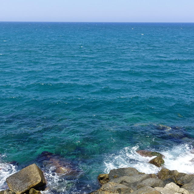 """Rocky seashore 1"" stock image"