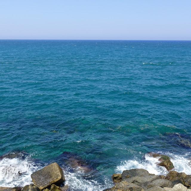 """Rocky seashore 4"" stock image"