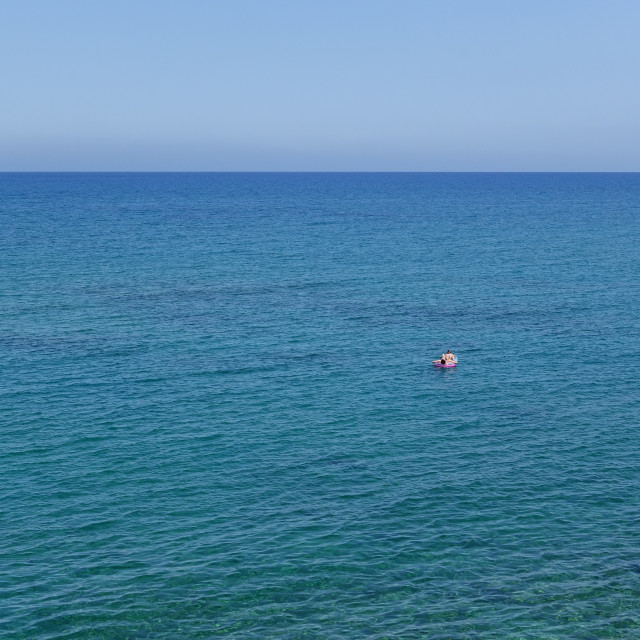 """""""Drifting out to sea 3"""" stock image"""