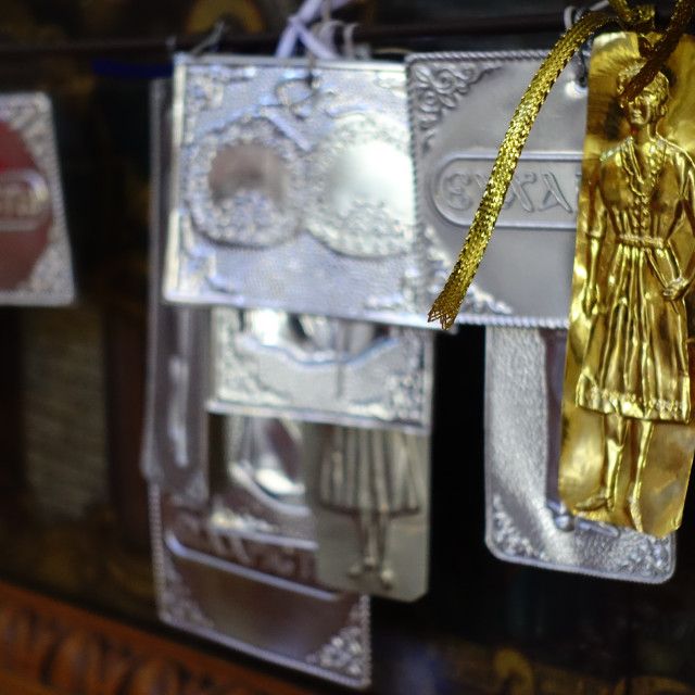 """""""Church Icons Gold and Silver"""" stock image"""