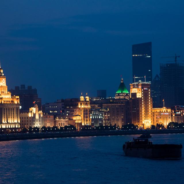 """Huangpu River, Shanghai"" stock image"
