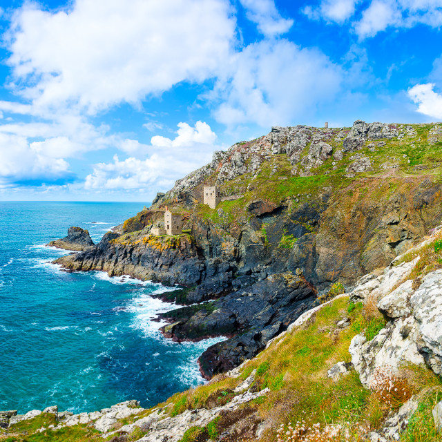 """Crown Mines, Botallack"" stock image"