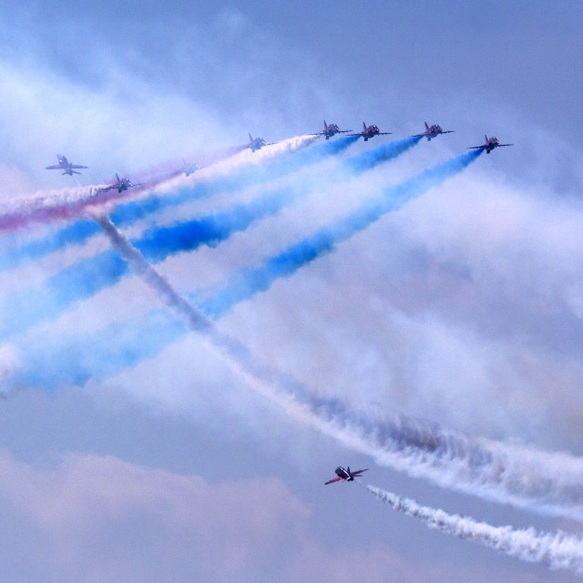 """""""RAF Red Arrows 'Goose'"""" stock image"""