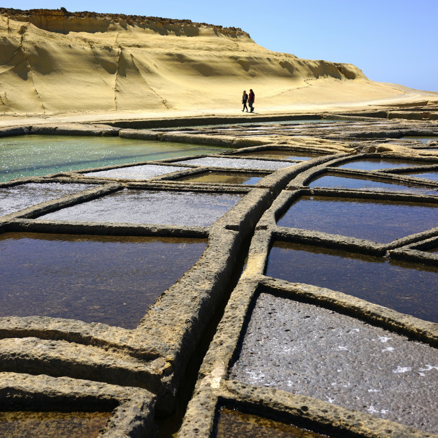 """Salt Pans Marsalforn, Gozo"" stock image"