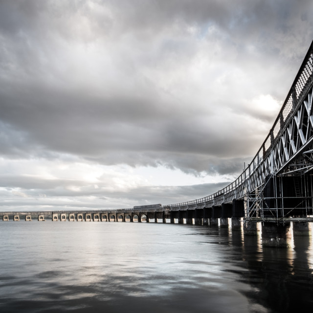 """Tay Rail Bridge"" stock image"