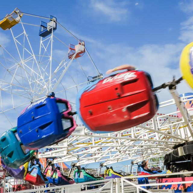 """fairground rides"" stock image"