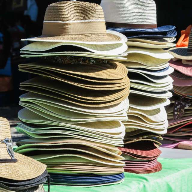"""Sun hats"" stock image"